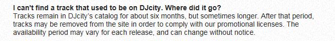 DJCity löscht alle Tracks nach ca. 6-8- Monaten wieder