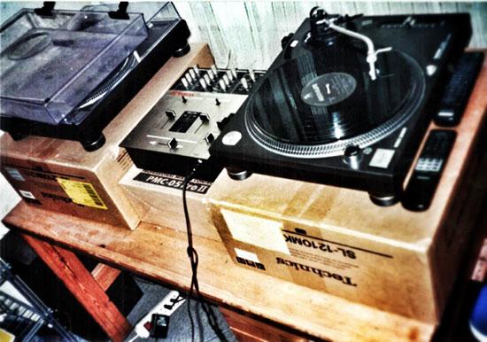 Mein erstes DJ Setup bestand aus 2 Technics MK2 und einem Vestax Mixer