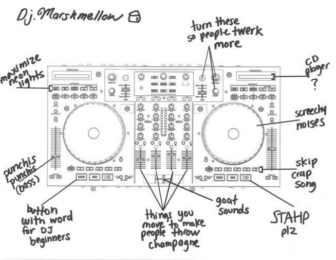 DJ Controller Beschriftung Ziege