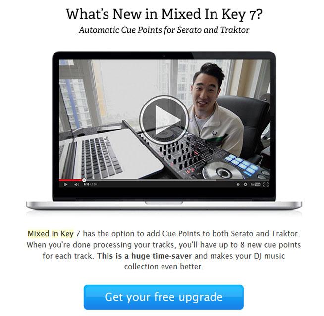 Das Update von einer früheren Version auf Mixed In Key 7 ist kostenlos