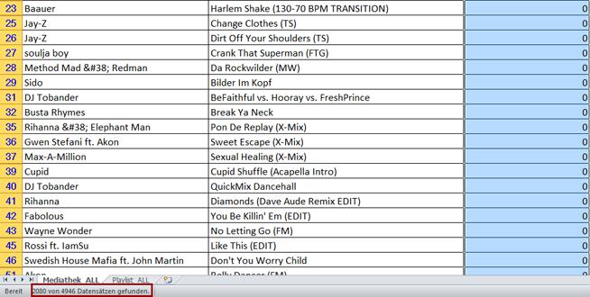 Schritt 6: Anzahl der gespielten Tracks anzeigen lassen