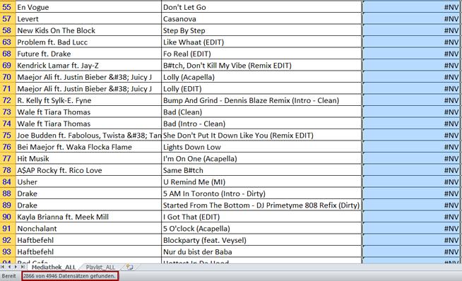 Schritt 7: Anzahl der ungespielten Tracks anzeigen lassen