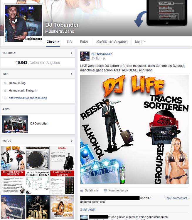 Eine Facebook Page darf eigentlich in deinem DJ Pressekit nicht fehlen