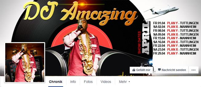 Fast jeder DJ postet seine Dates und Termine auf seiner Facebook Fan Page
