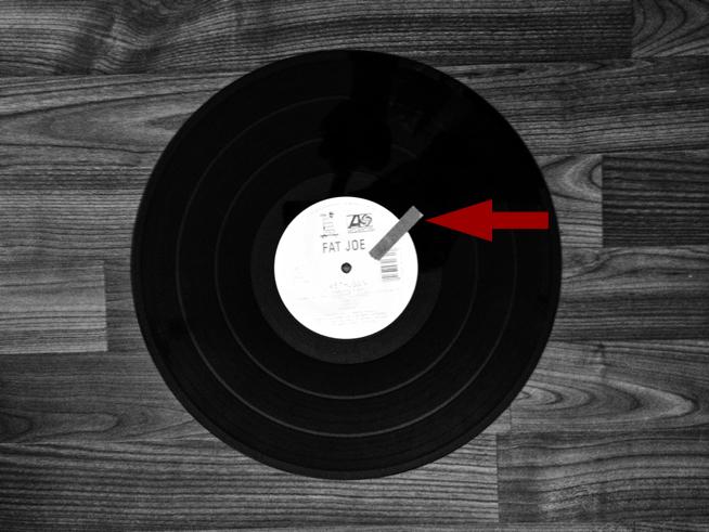"""Marker auf meiner alten Fat Joe """"We Thuggin'"""" Vinyl aus 2001"""