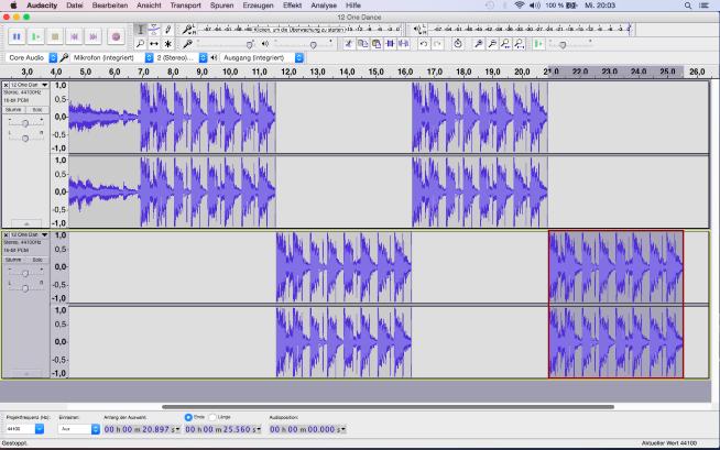 Jetzt hat die DJ Remix Version 16 Bars und ist fertig