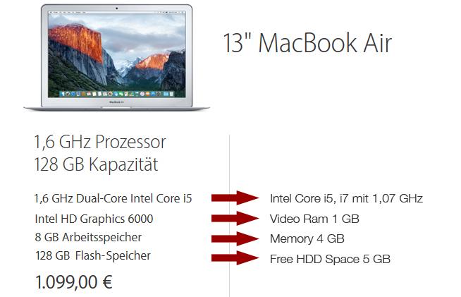 """Das 13"""" MacBook Air erfüllt locker alle Vorraussetzungen für Video Mixing mit Serato DJ"""