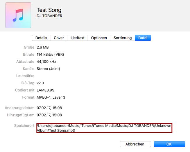 Musiklibrary Aufräumen ohne iTunes